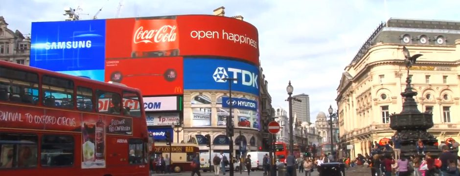 LED Werbewand P16 (Coca Cola) am Picadilly Circus in London