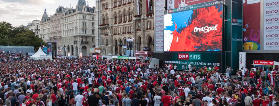 Public Viewing Rathausplatz Wien EURO 2016