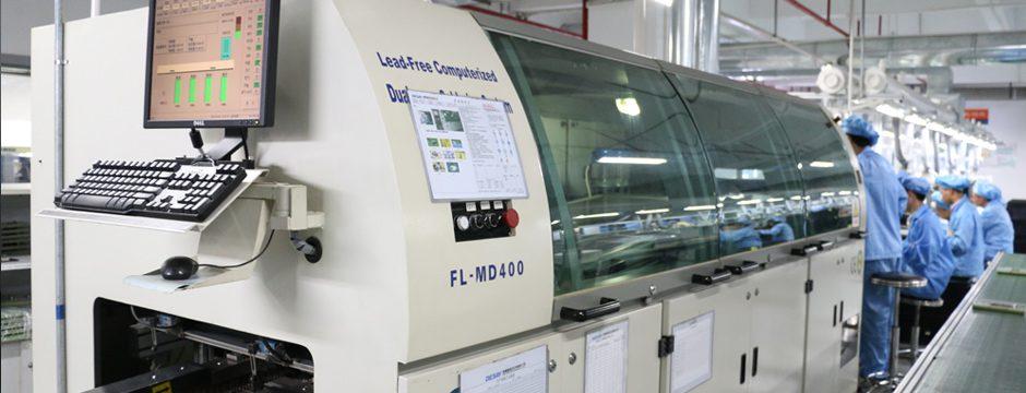 firstSpot Videowand Produktion Soldeing Maschine