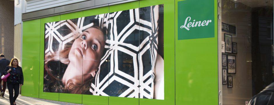 Videowall Schaufenster, firstSpot E4 Blackface Indoor, 4,0 mm Bildpunktabstand, Leiner Mariahilferstraße