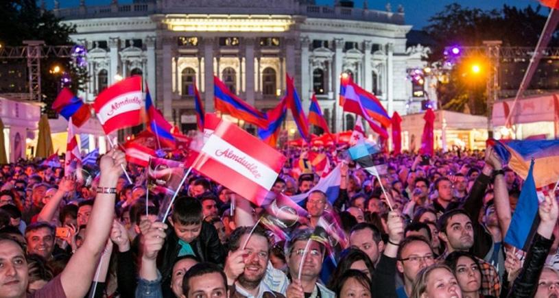 Werbung beim Public Viewing Rathausplatz Wien EURO 2016, Videowall Werbespot