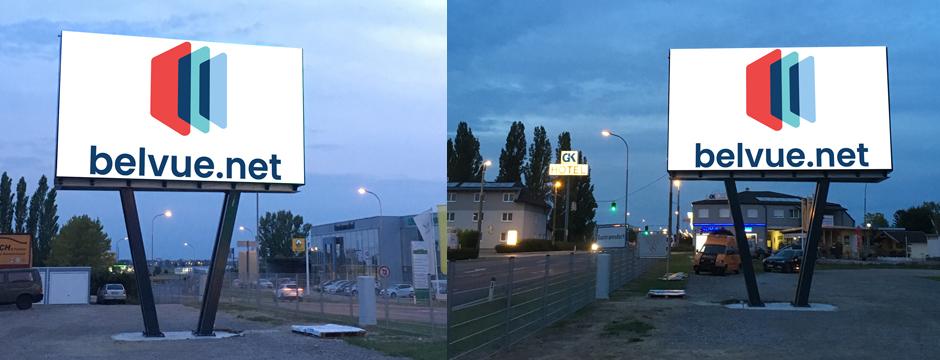 Videowall Werbung Guntramsdorf B17, Niederösterreich