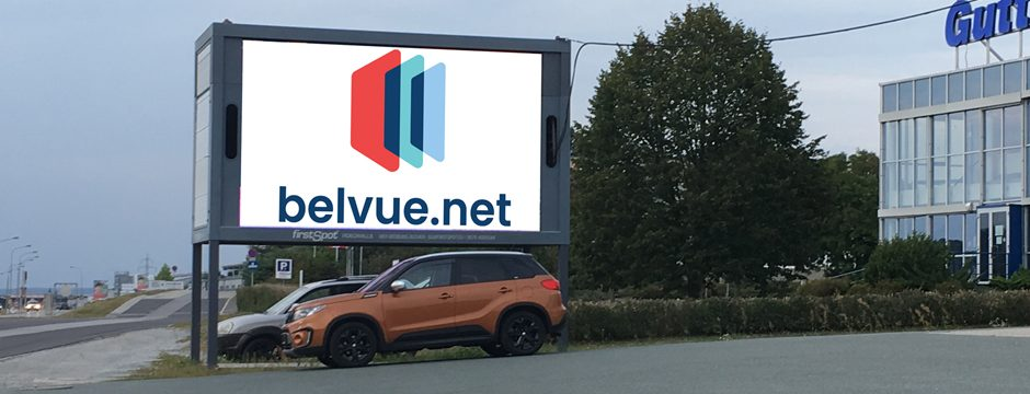 Videowall Werbung Güssing Fahrtrichtung Wien
