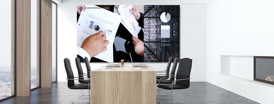 LED Videowall maßgeschneidert für Konferzraum / Konferenzräume. Großbild Monitor, LED Screen kaufen bei firstspot in Wien, Österreich