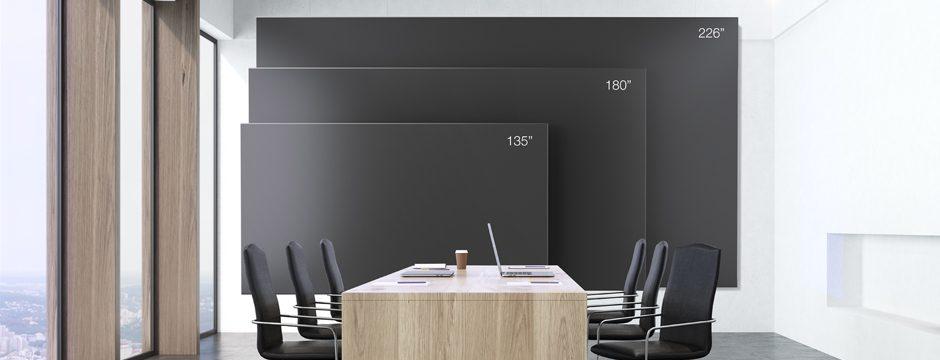Videowall Videoscreen Display Konferenzraum Konferenz Meetingraum Besprechungraum in drei Beispielgrößen