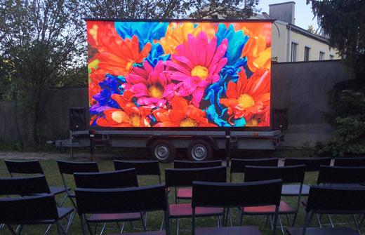 großer LED Bildschirm für Hochzeit, Geburtstagsfeier, Firmenfeier, Weihnachtsfeier mieten in Wien Österreich