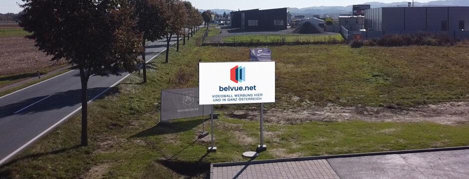 LED Videowall Werbung Landsch an der Mur, Leibnitz, Südsteiermark, Steiermark, Digital Out of Home Werbung, Außenwerbung Digital LED Wall LED Werbetafel digital elektronisch belvue.net Österreich