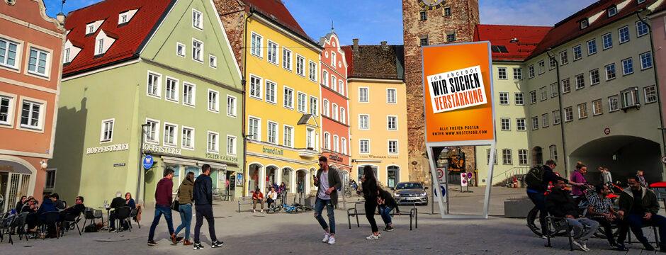 LED Videowall LED Wall Digitale, elektronische Werbetafel Outdoor, freistehend, Wien, Österreich, kaufen