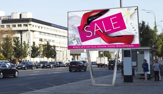 LED Videowall LED Wall Digitale, elektronische Werbetafel Outdoor, freistehend, Wien, Österreich