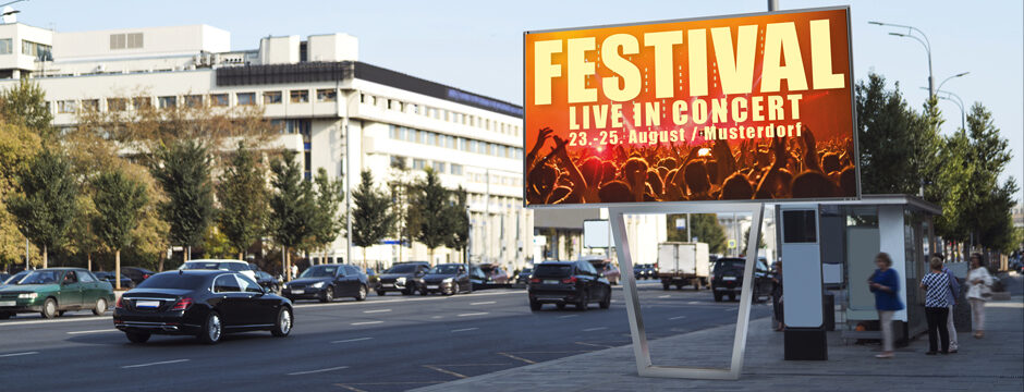 LED Wall Outdoor Werbetafel Österreich