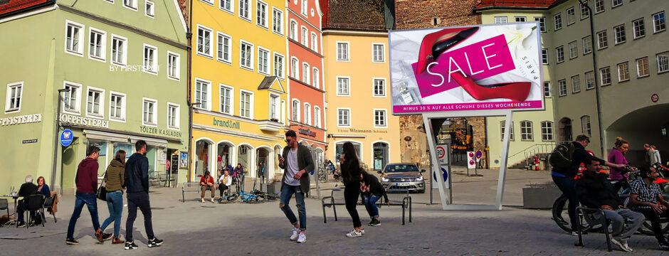 VIDEA® 7 Outdoor LED Werbetafel digital, elektronisch, kaufen in Österreich bei firstSpot